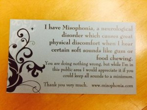 misophonia on ChezGigi.com