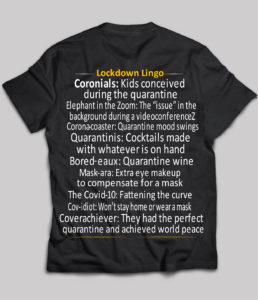 Lockdown Lingo t-shirt on ChezGigiTees